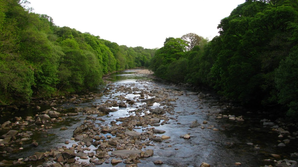 The River South Tyne near Lambley, a wild part of the county to build a railway