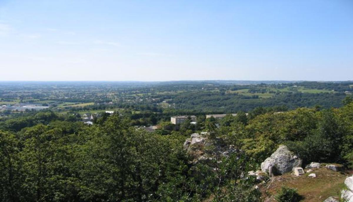 Looking over the County of Mortain from La Tourablere