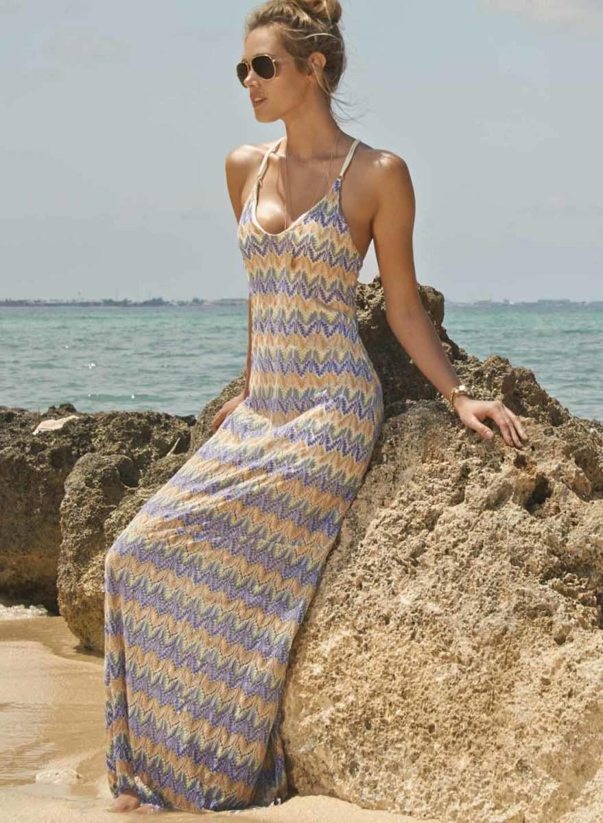 """Sunchaser Maxi"" Crochet Dress"