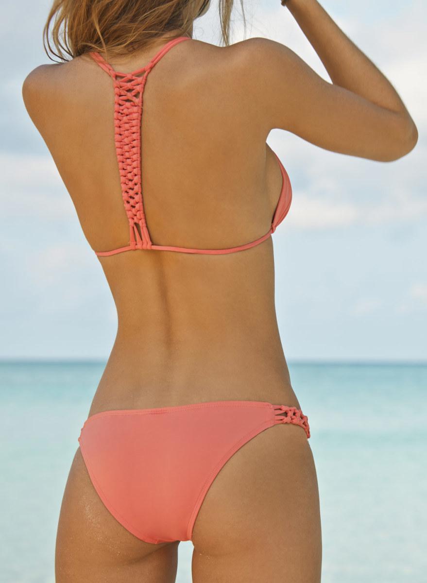 """Watermelon Mixer"" Crochet Back Bikini"