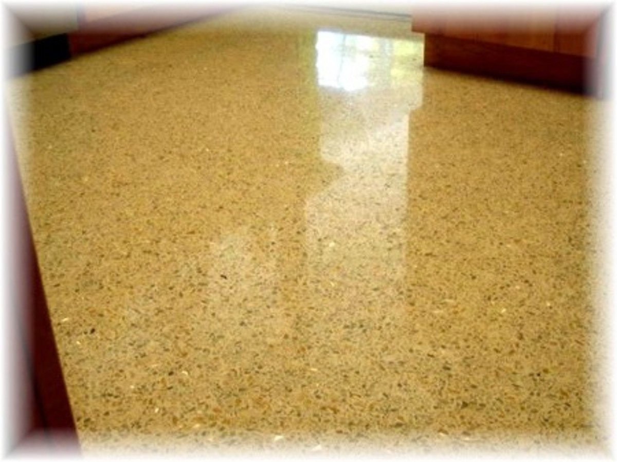 Today's terrazzo floor restoration makes a world of difference