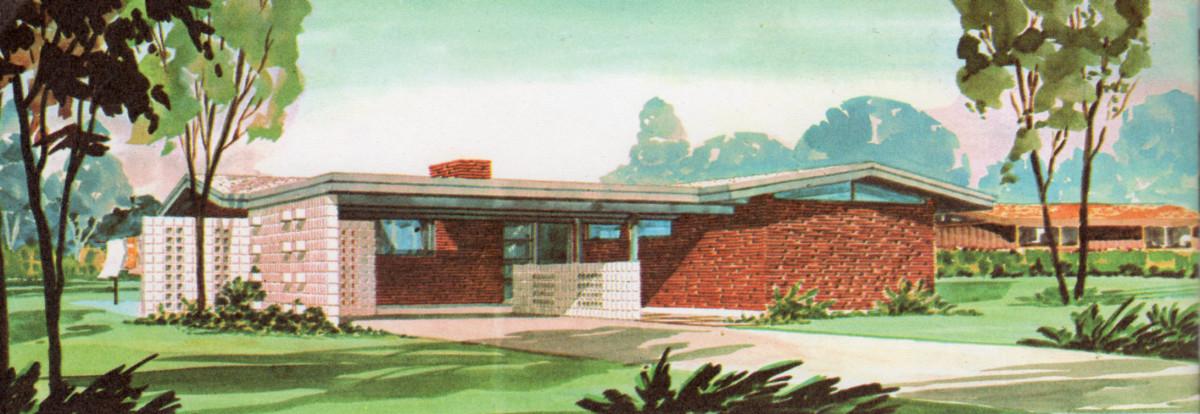 1950s home plan concept