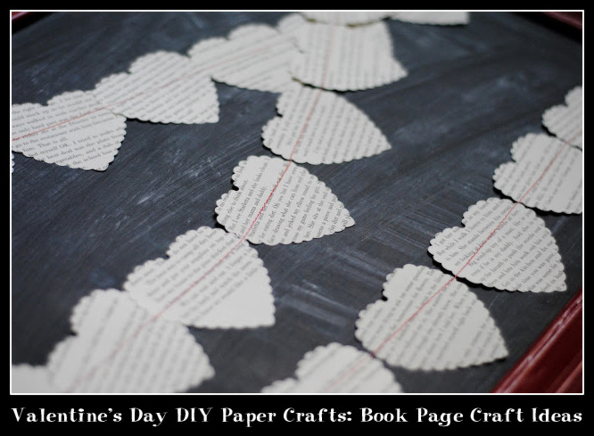 Valentine's Day DIY Paper Crafts: Book Page Craft Ideas