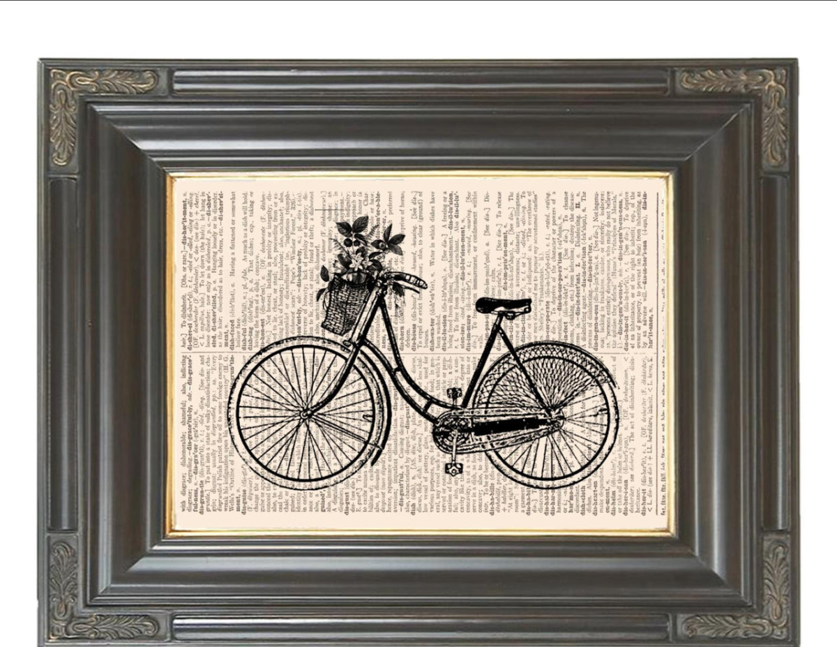 You can print, draw, or paint virtually any image onto an old book page and frame it as wall decor.