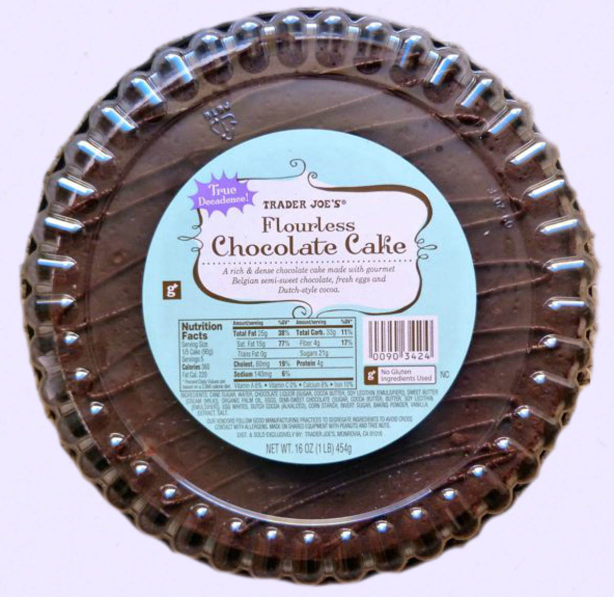 Trader Joe's Flourless Chocolate Cake