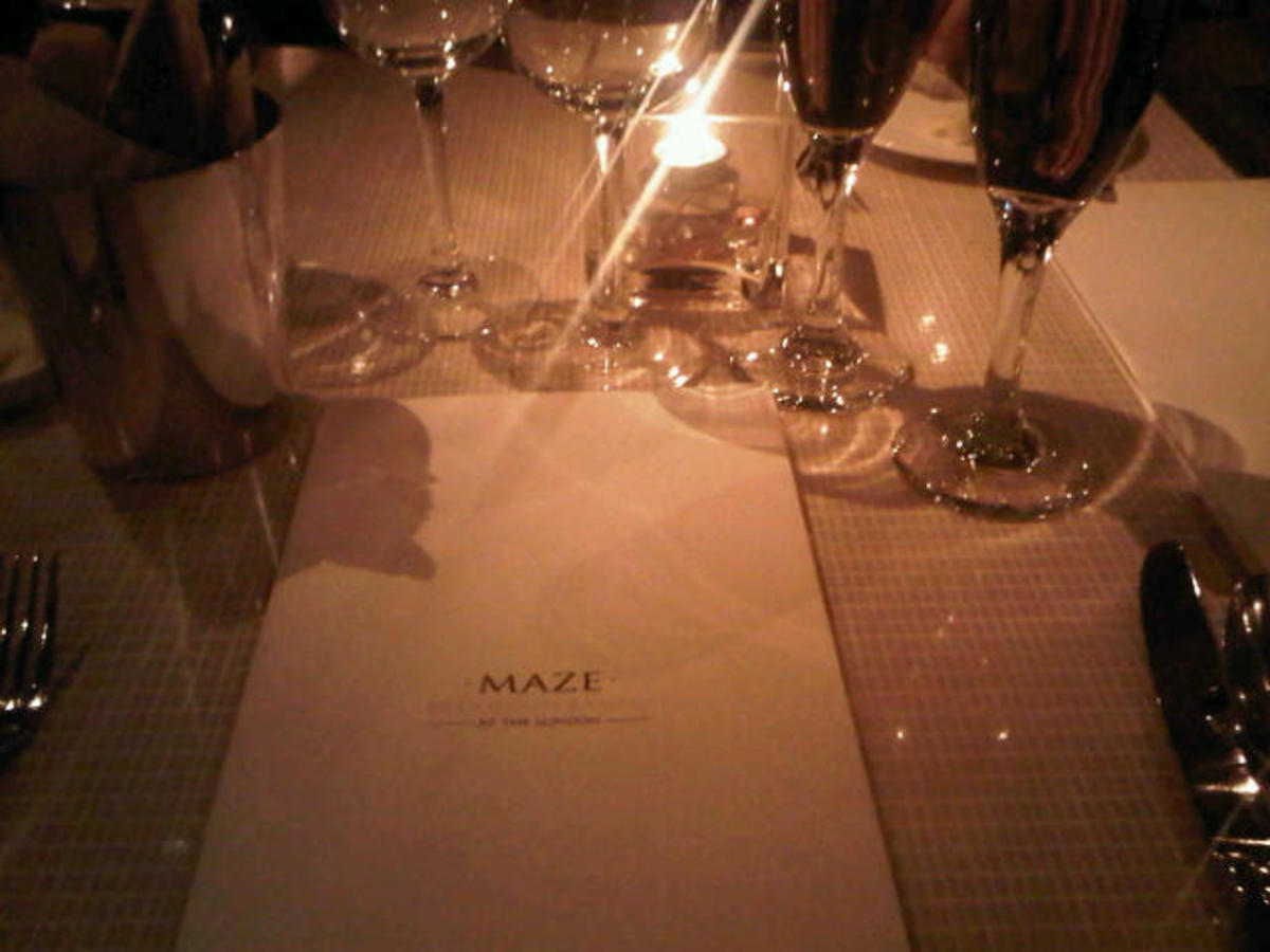 At the MAZE Restaurant.