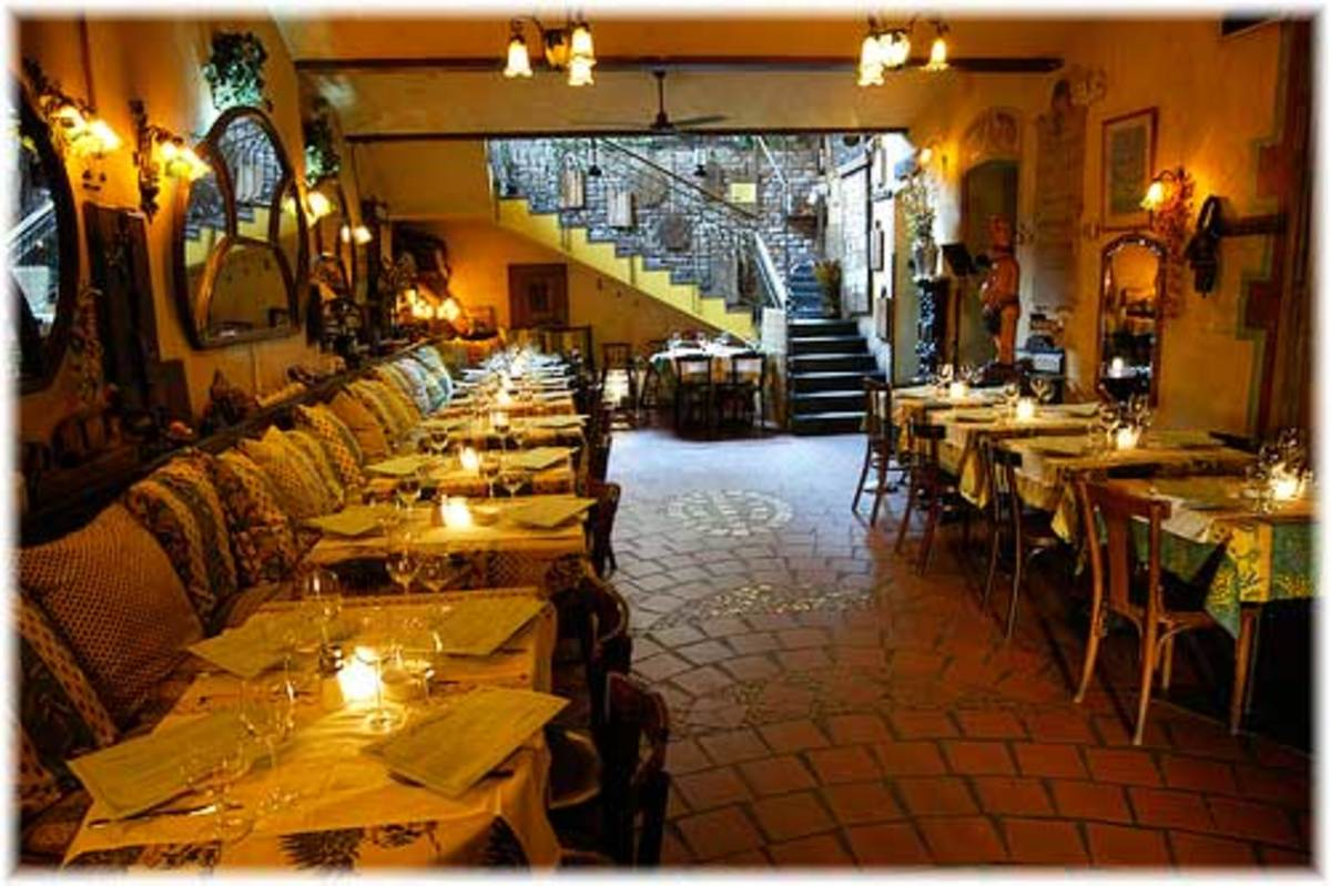 A small restaurant in Prague called La Provance.