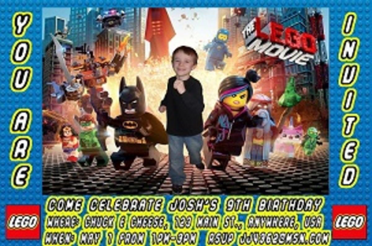 Personalized Lego Movie Invitations