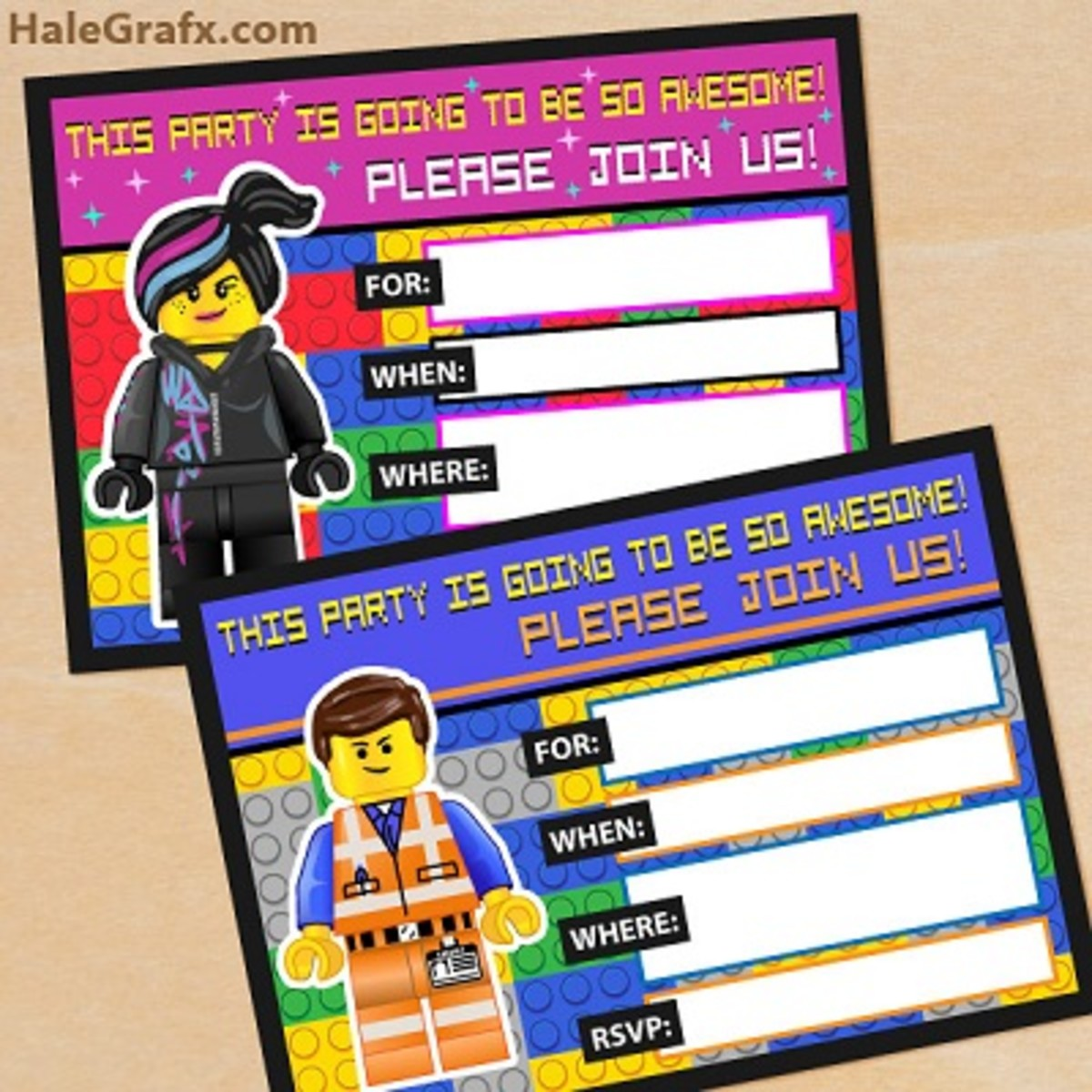 Free Printable Lego Movie Party Invitations