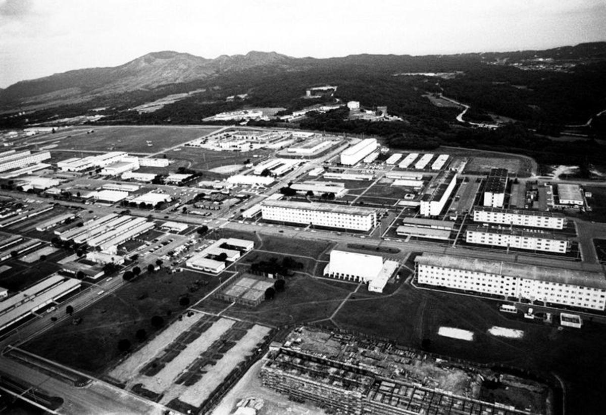 Aerial view of Camp Hansen.