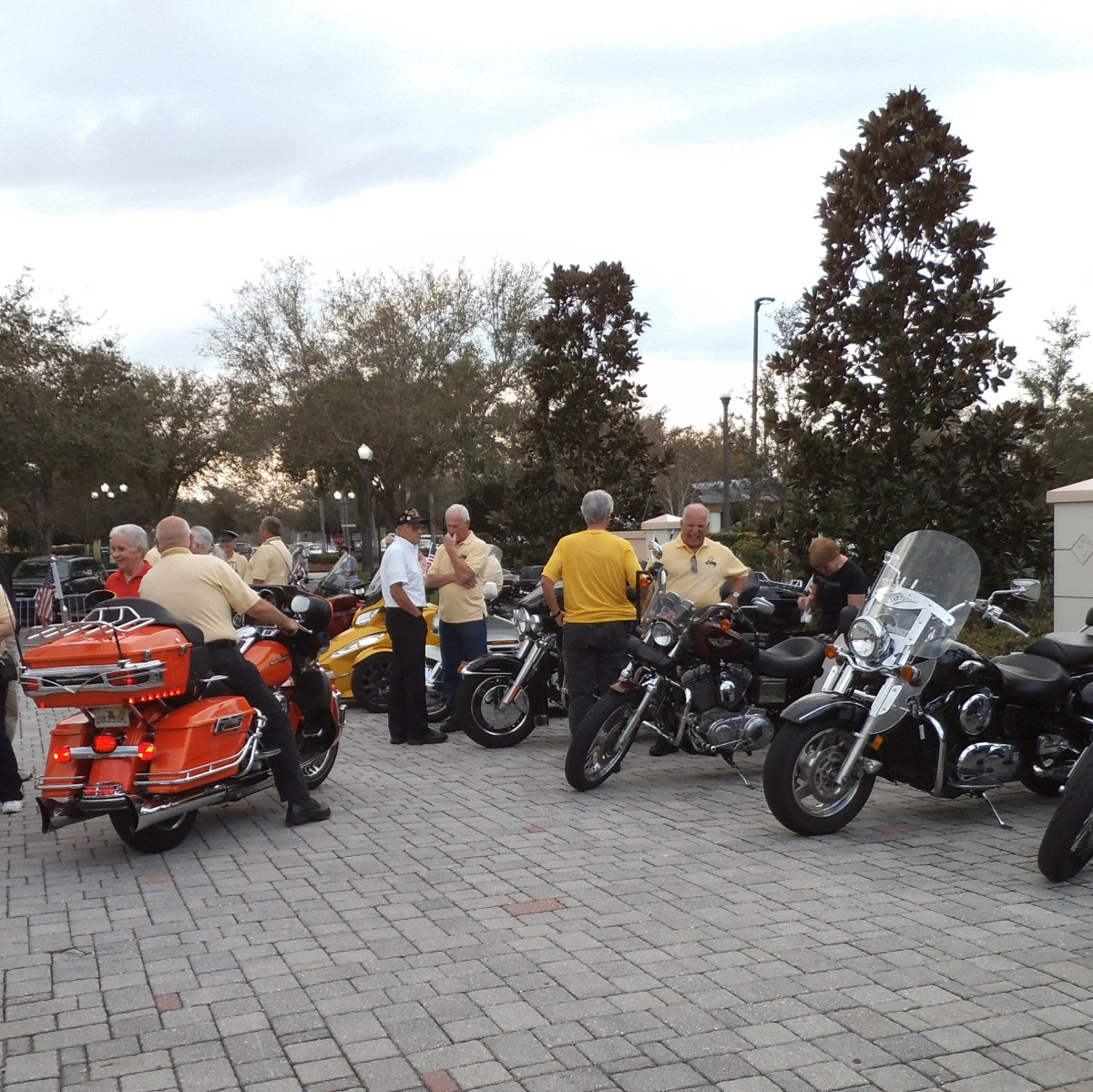 The SOBs (Solivita Older Bikers) gather to ride in the parade.