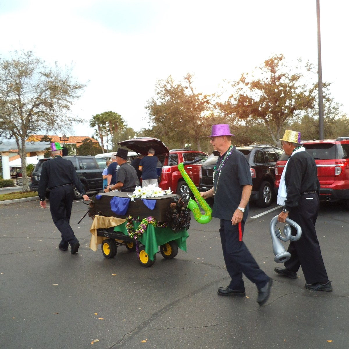 An old-style New Orleans funeral.