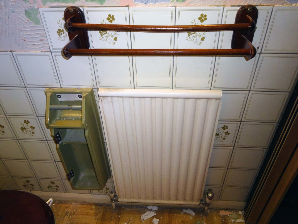 Old radiator and towel rail