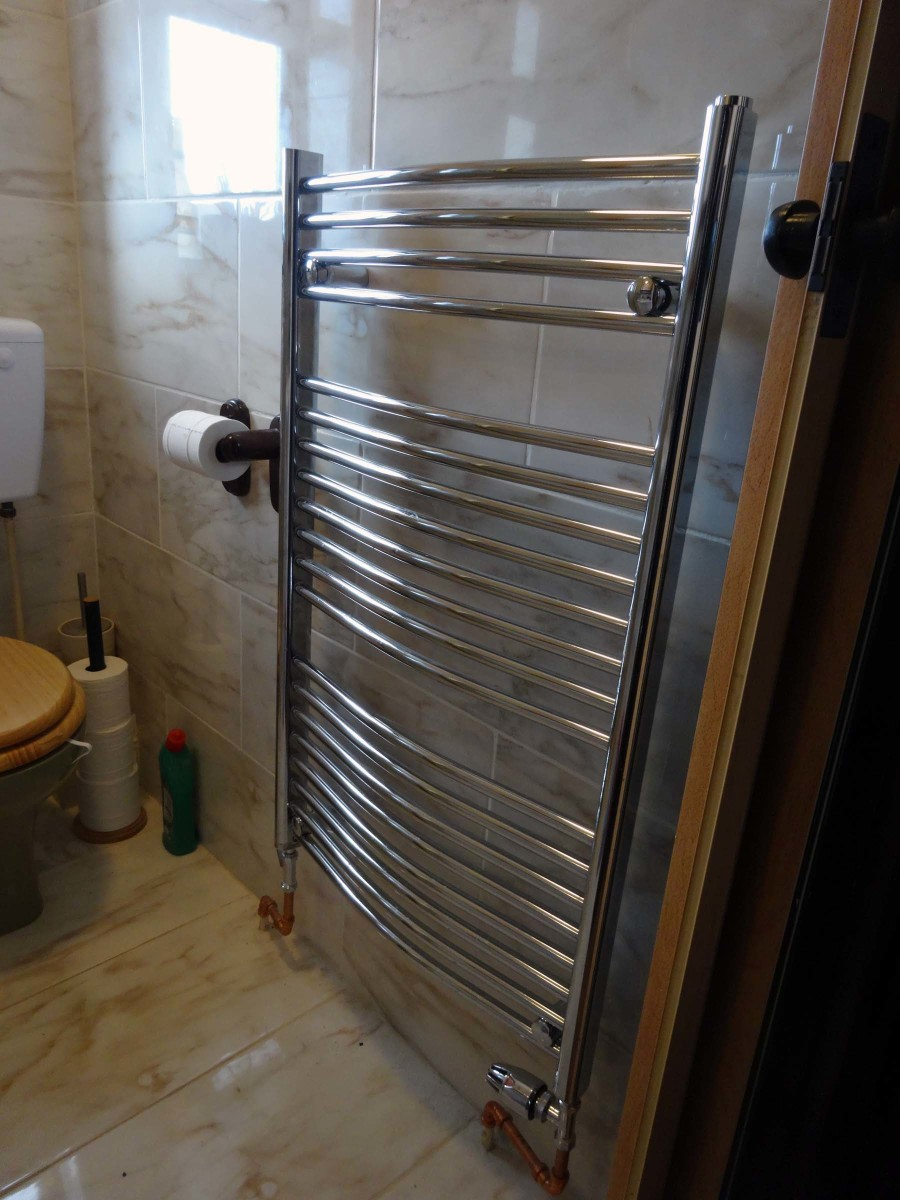 New heated towel rail