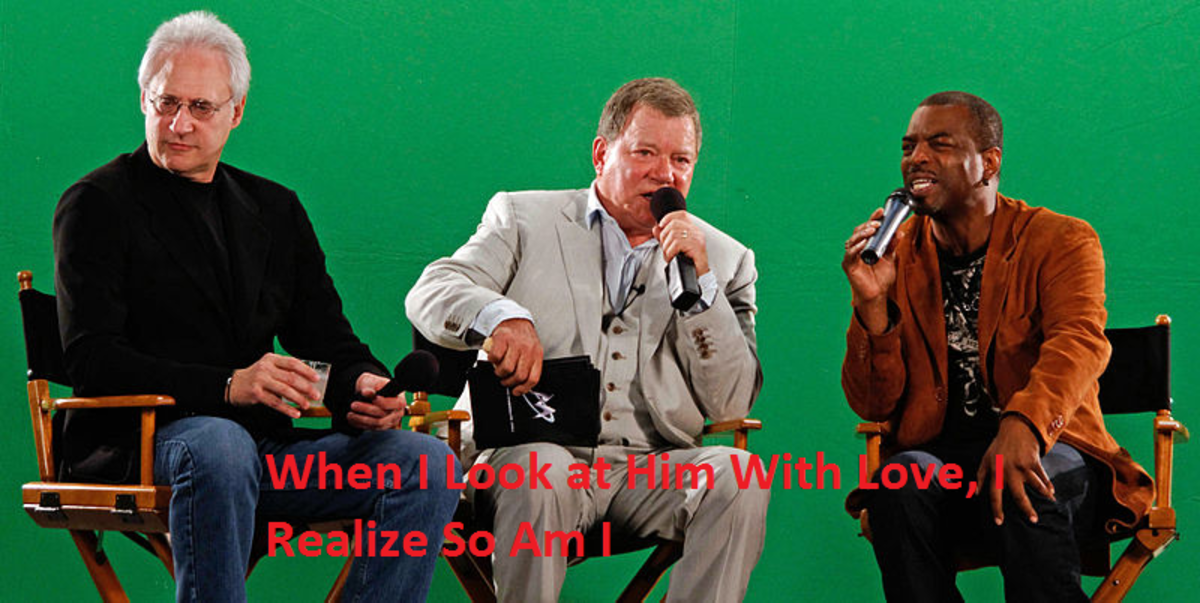 Brent Spiner and Levar Burton (Data and Geordi La Forge off of Star Trek: The Next Generation) with William Shatner. Just as a note, Brent Spiner as also released a couple of albums.