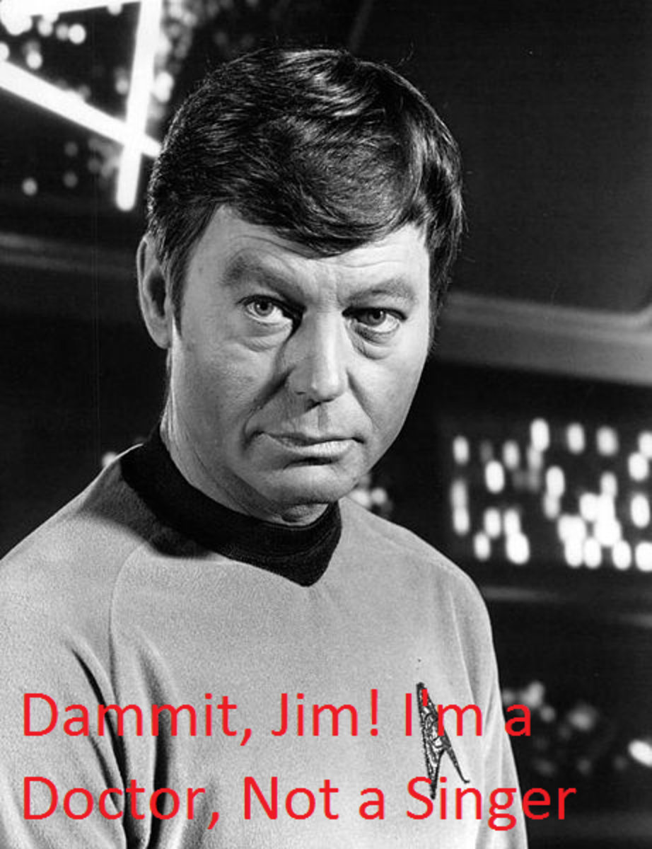 Deforest Kelly who plays Doctor McCoy. Sadly he never released any albums.