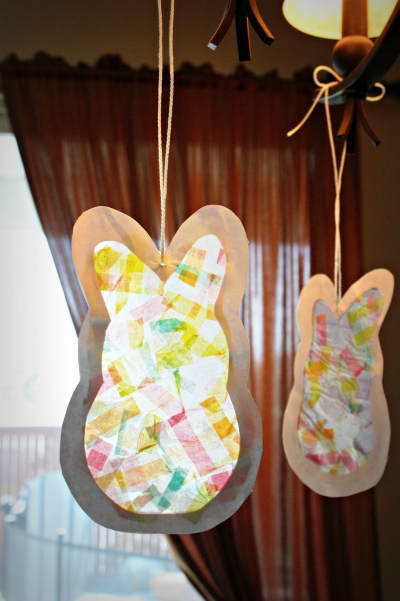 Easter Bunny Sun-catcher Craft for Kids