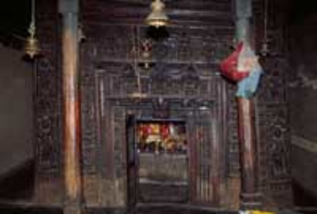 Beautifully Carved Door of the Temple