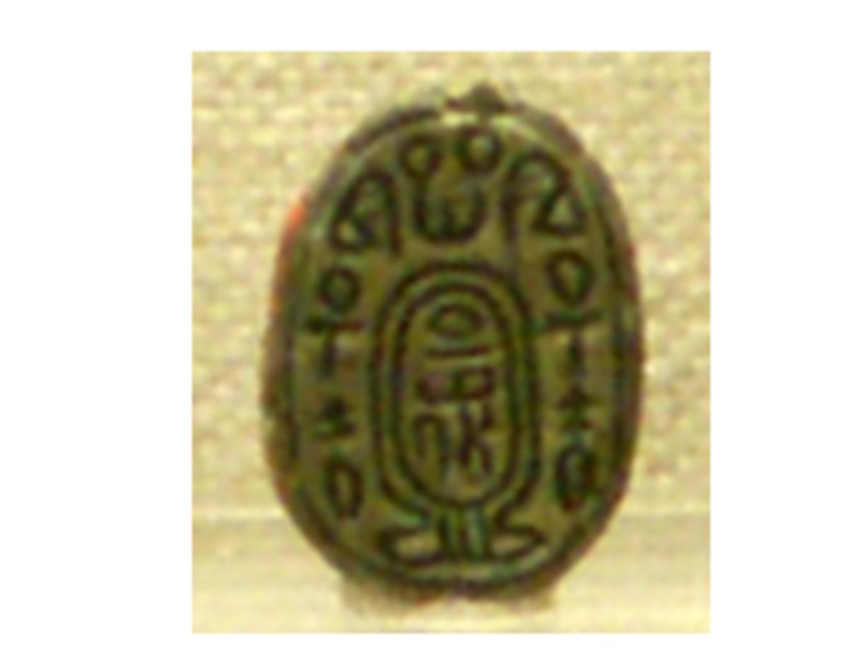 Scarab Naming Hyksos Pharaoh Apepi