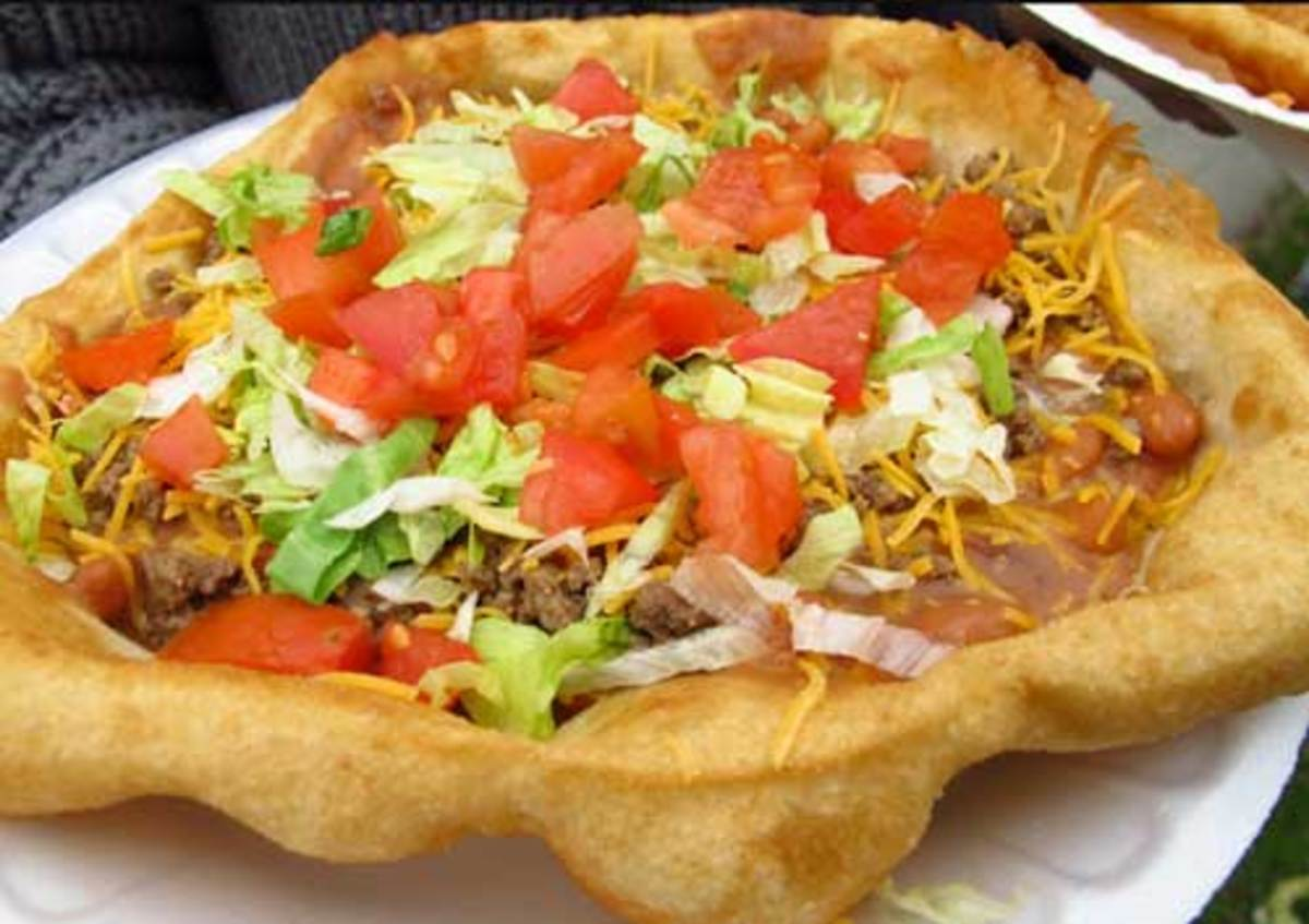 Open Faced Indian Taco