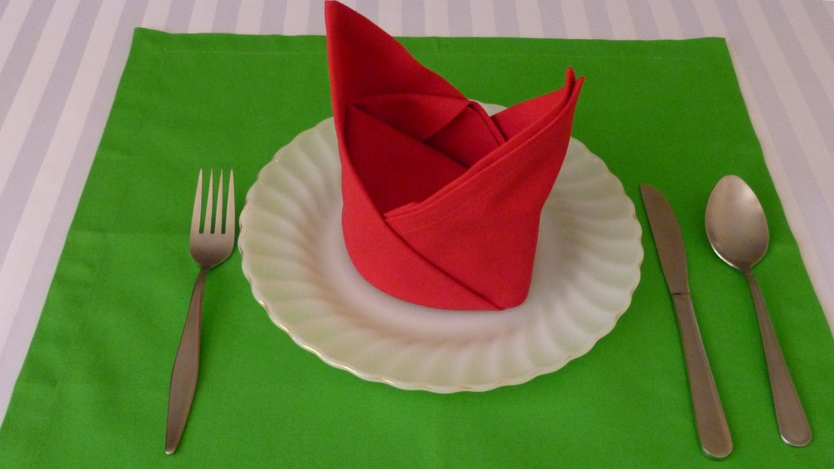 Napkin folding for the holidays