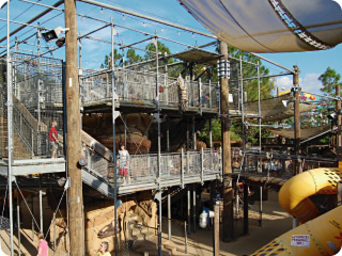 Animal Kingdom's Boneyard is a favorite of kids for the grandeur of its dino-themed playscape and adults for its shaded places to take a load off.