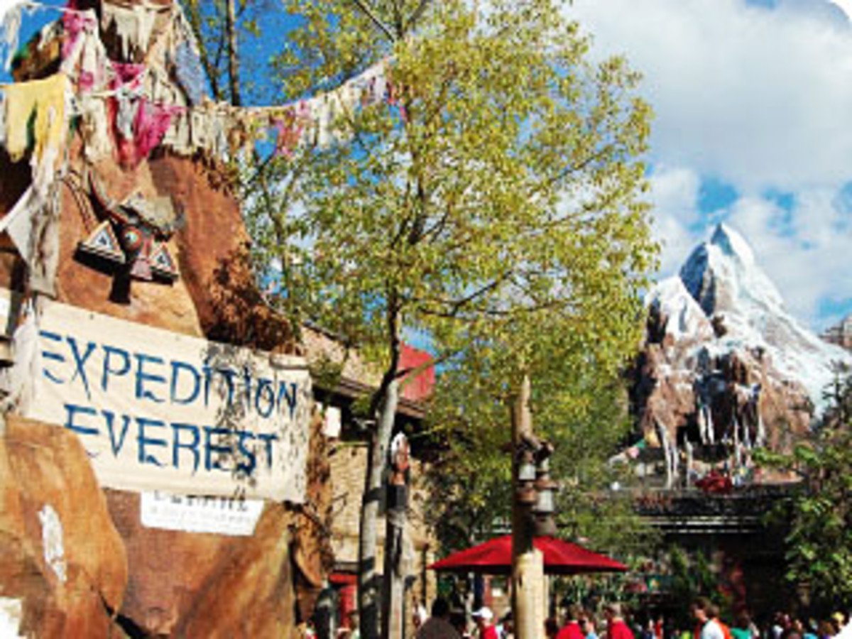 Themed entrance to Expedition Everest.