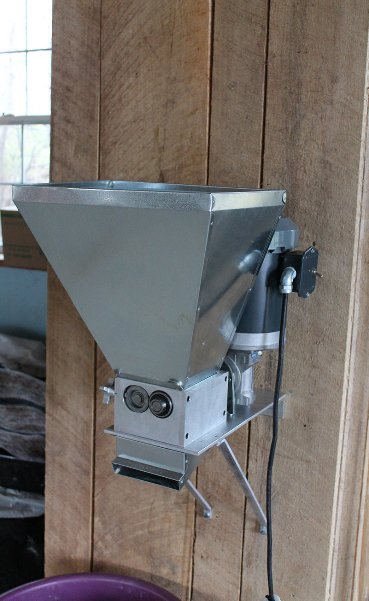 Wall Mount Express Oat Crimper from Cottage Craft Works