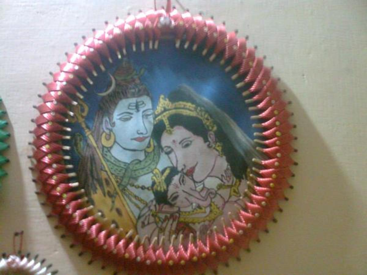 Gasket with the family drawing of Lord Shiva