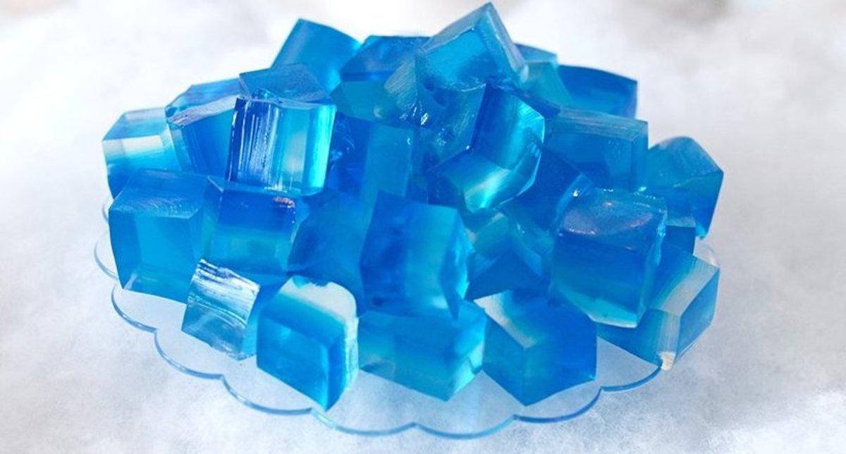 Disney Frozen Kristoff's Blue Jello Ice Cubes