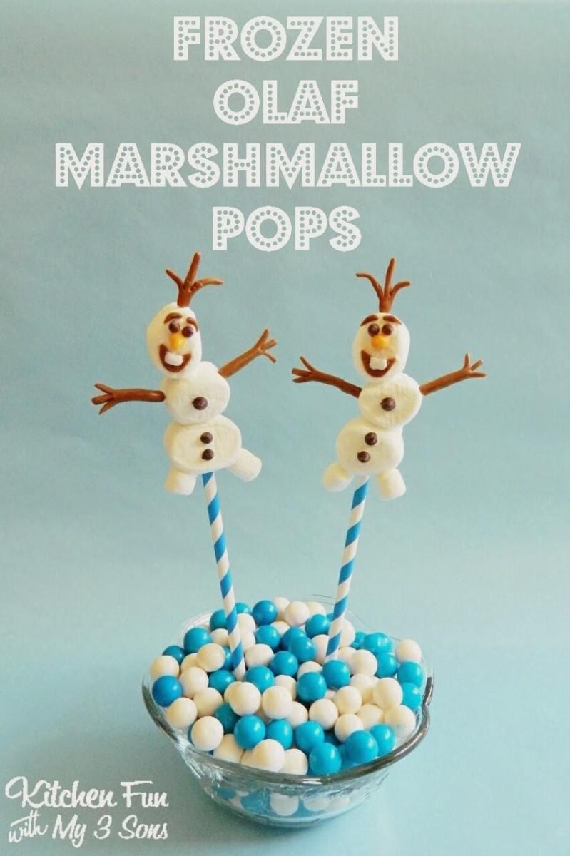 Frozen Olaf Marshmallow Pops