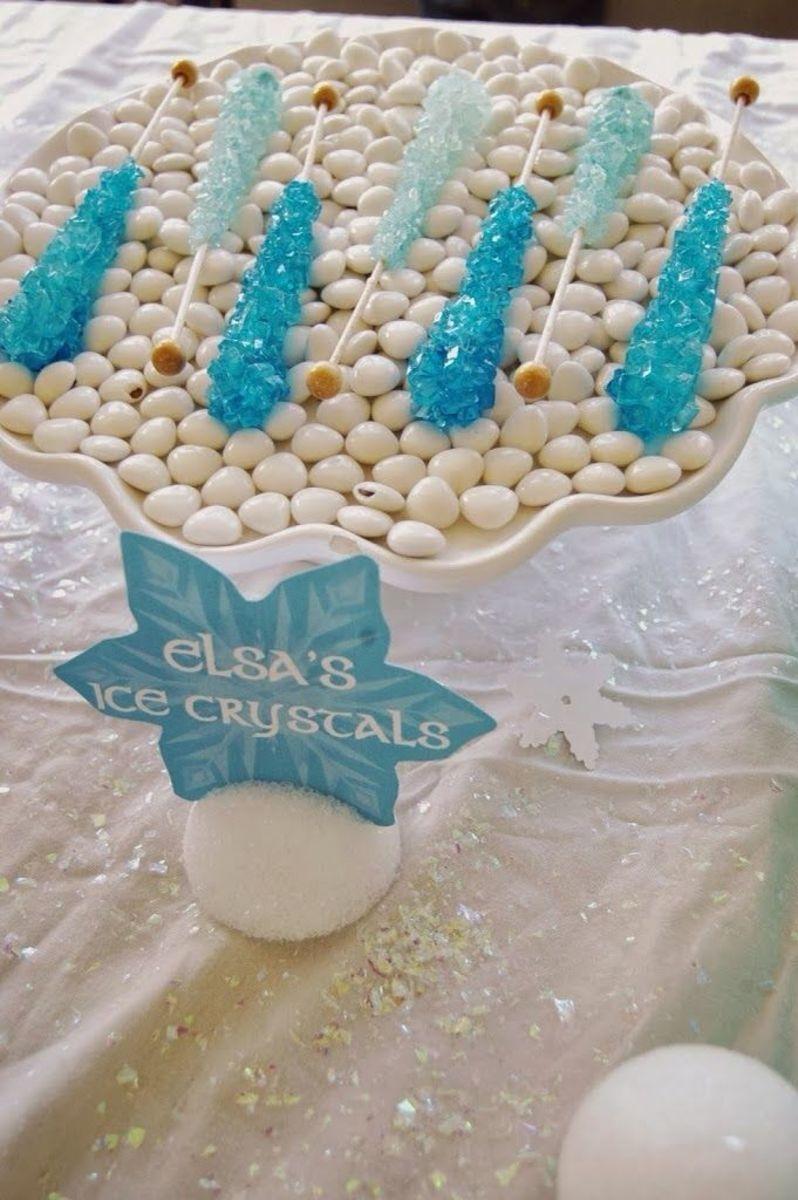 Elsa's Ice Crystals Frozen Party Food