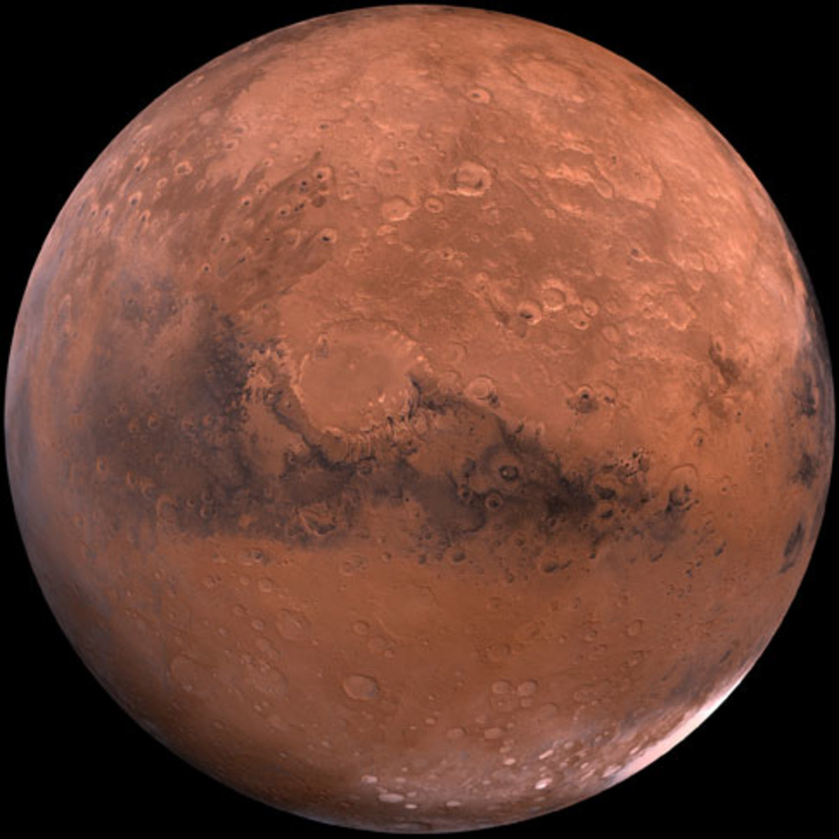 The planet Mars, the origin of the invaders in the novel War of the World, as well as some movie adaptations.