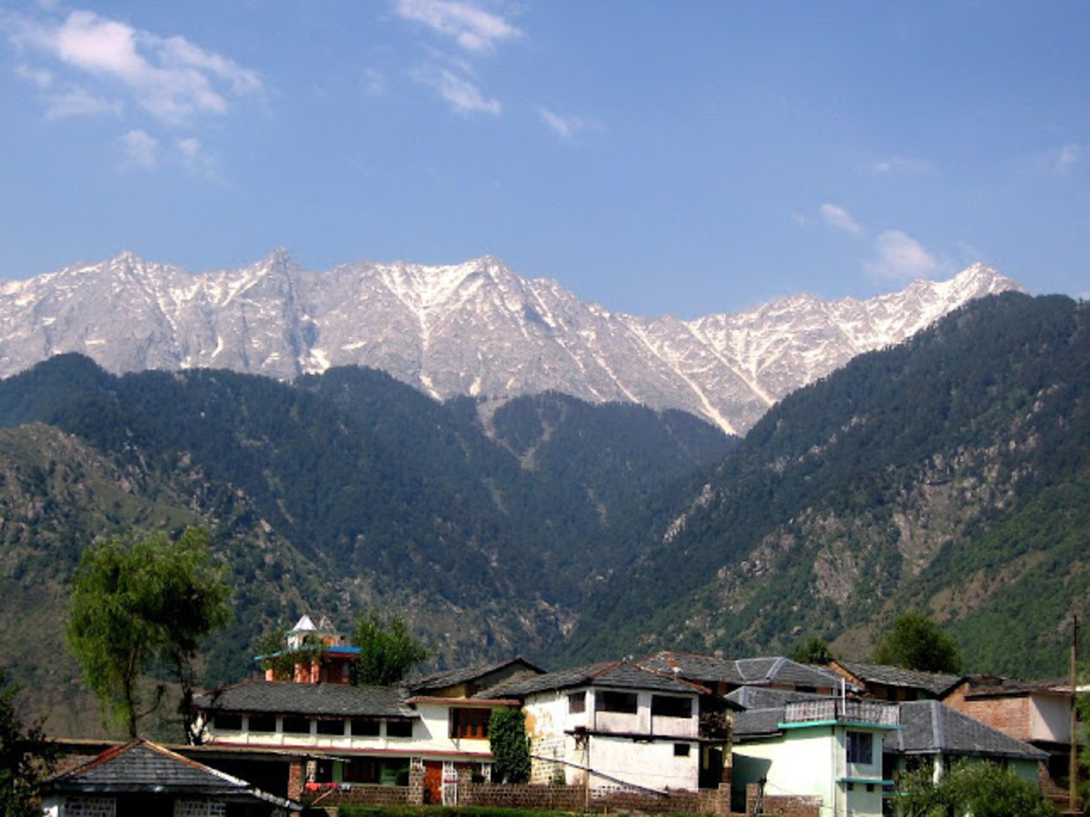 Andretta Village in Himachal Pradesh