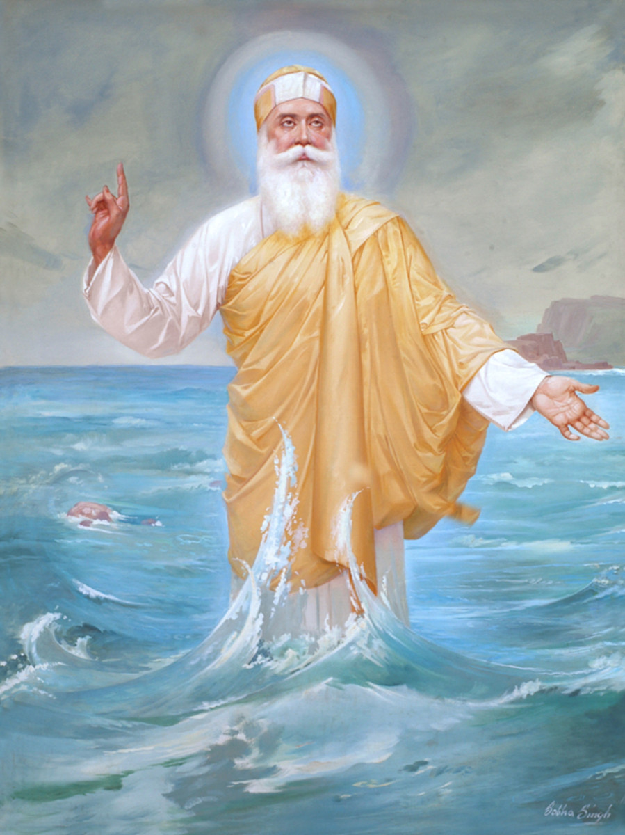 The Painting of Guru Nanak by Sobha Singh