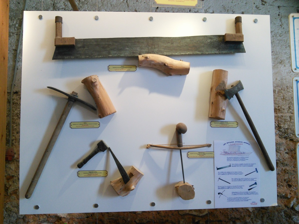 Replica Tools Used to Build Ship