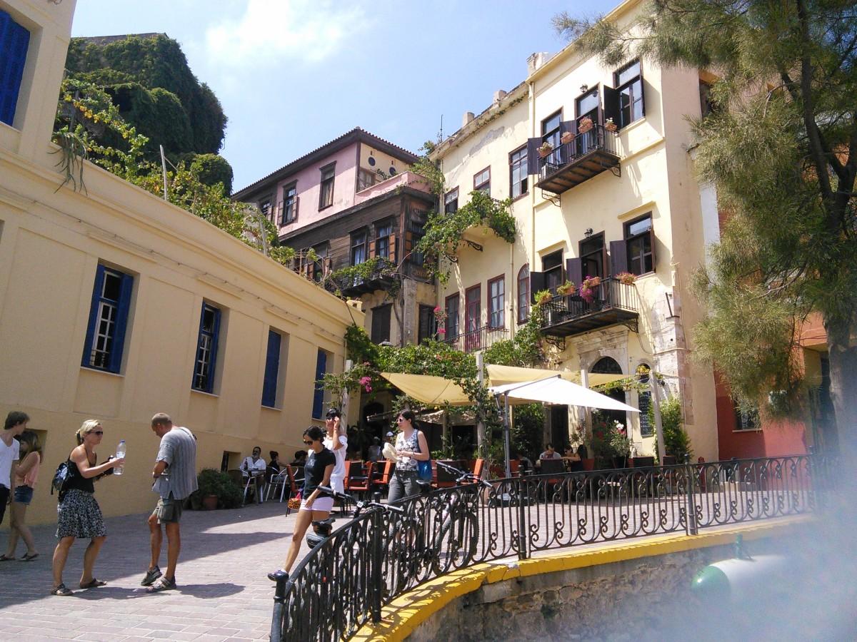 Waterfront Venetian Buildings in Chania