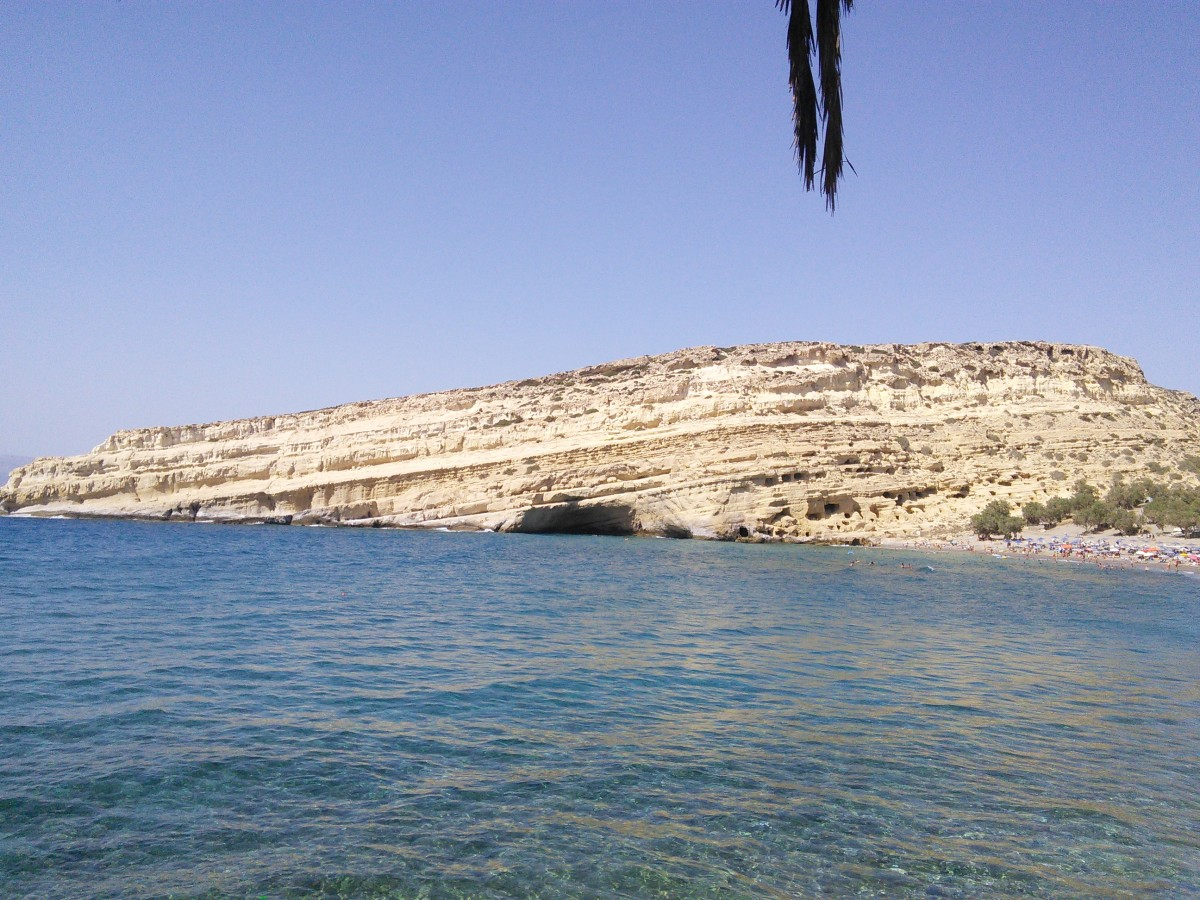 The Famous Caves in the Matala Cliffs