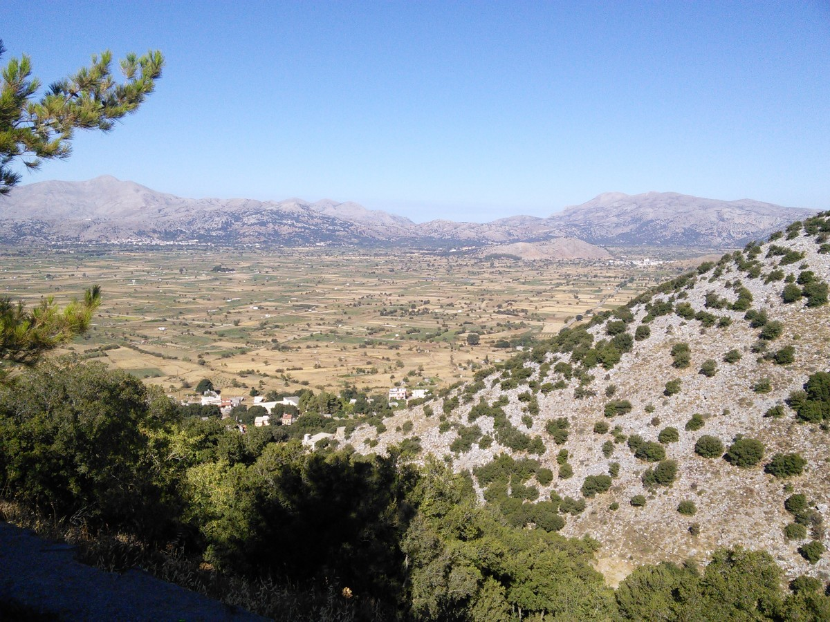 View of the Lissithi Plain from the Cave of Zeus
