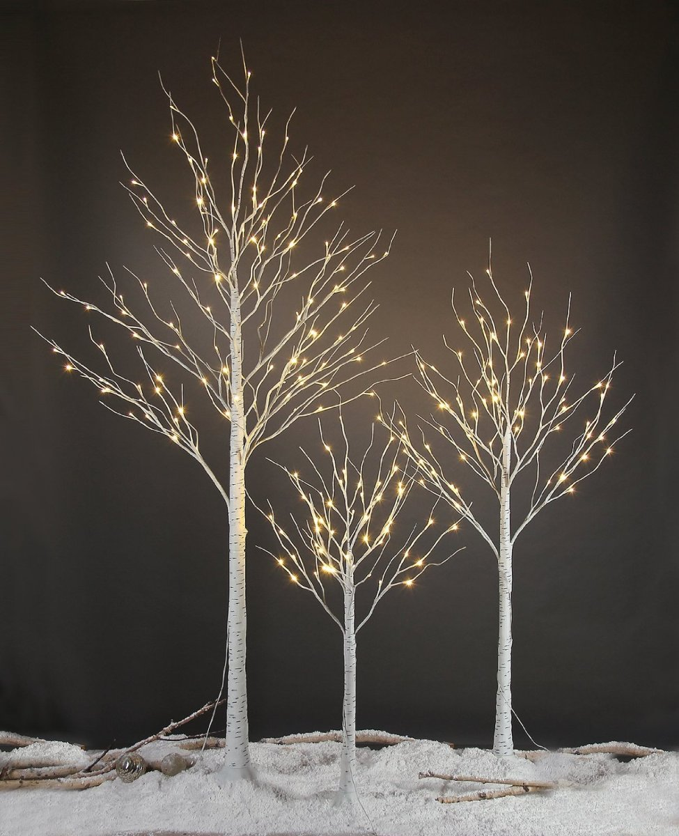 Lighting Of Christmas Tree 2014: Lightshare 6FT 72L LED Birch Tree Holiday Light Review