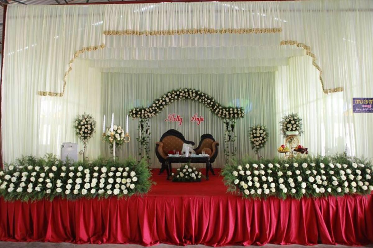 Stage Decoration - Kerala Catholic Marriage