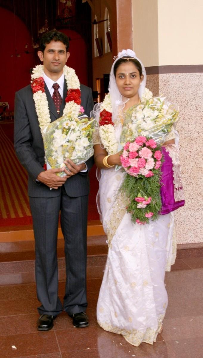 Wedding Couples - Kerala catholic wedding