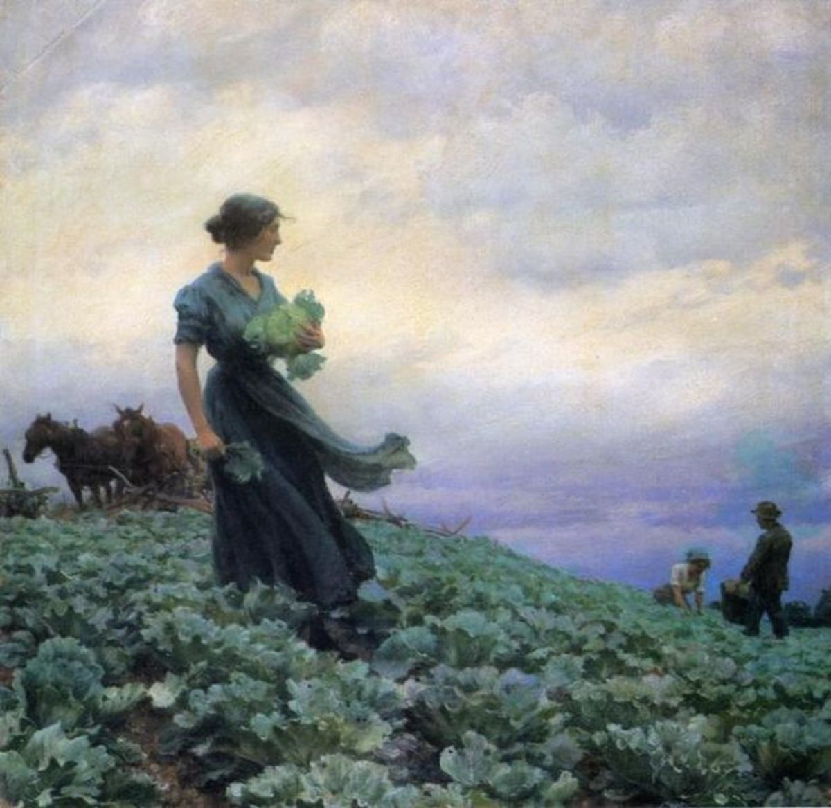 The Cabbage Field, circa 1910. This piece really speaks to me also.  I really love Curran's work, the more I view it.  Simply sensational.