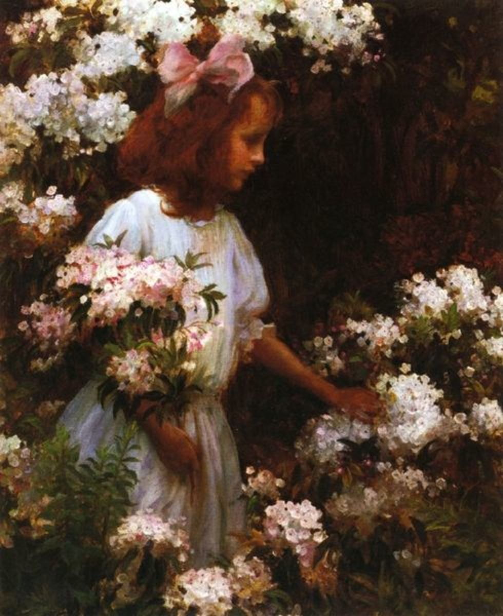 """Jane Huntington McKelvey"" circa 1905, by Charles Courtney Curran."