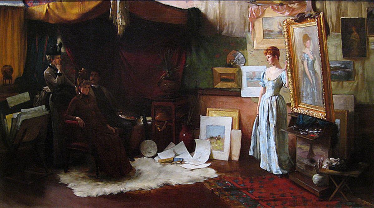 Fair Critics, by Charles Courtney Curran, oil on canvas, 1887.