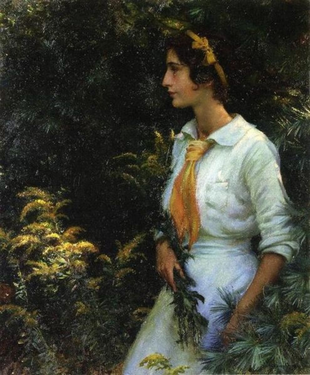 """Goldenrod"" painting by Charles Courtney Curran, circa 1910."