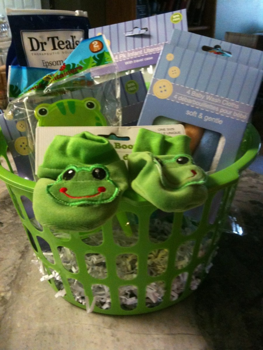 Cute gift basket for a baby.