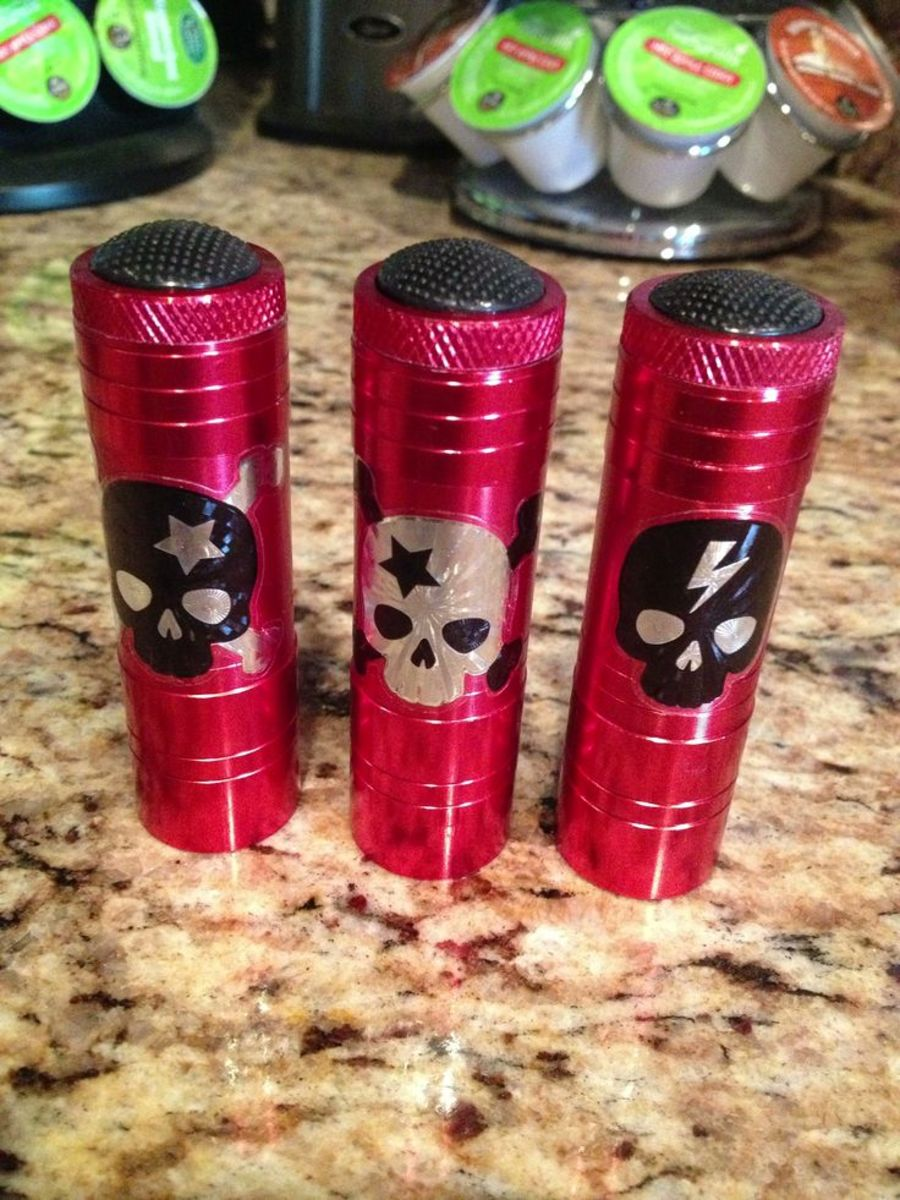 Glammed-up flashlights.