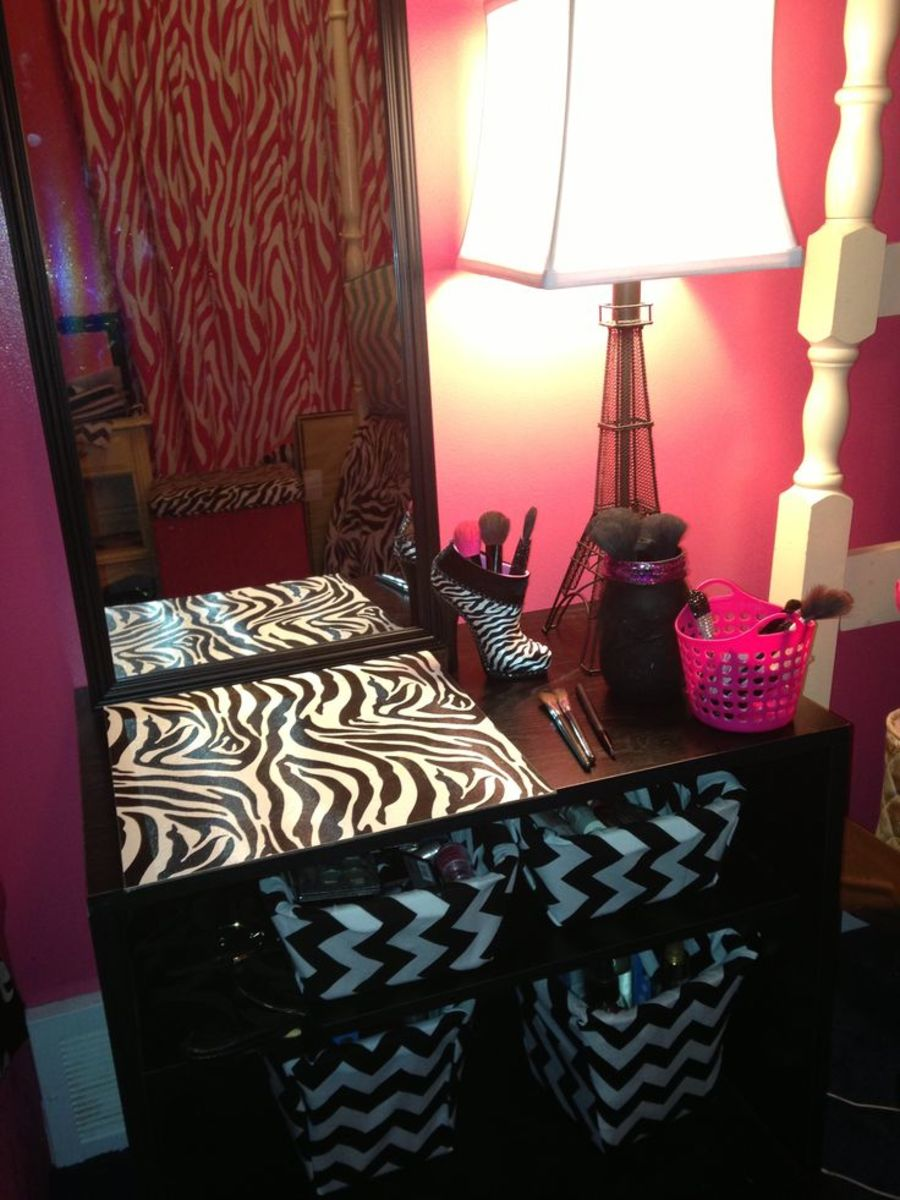 Homemade vanity.