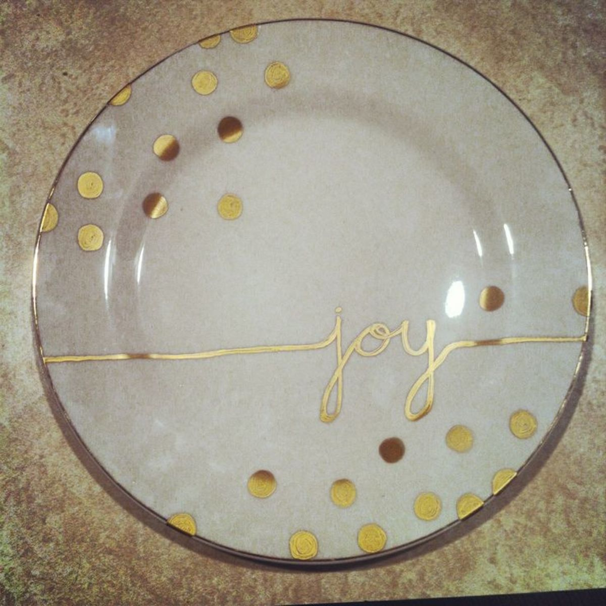 Painted plate.